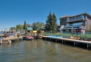 Chestemere Lakefront Homes with dock