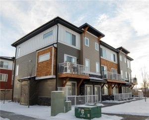 3 story townhouse with double attached garage
