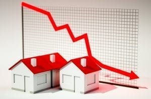 graph showing prices falling
